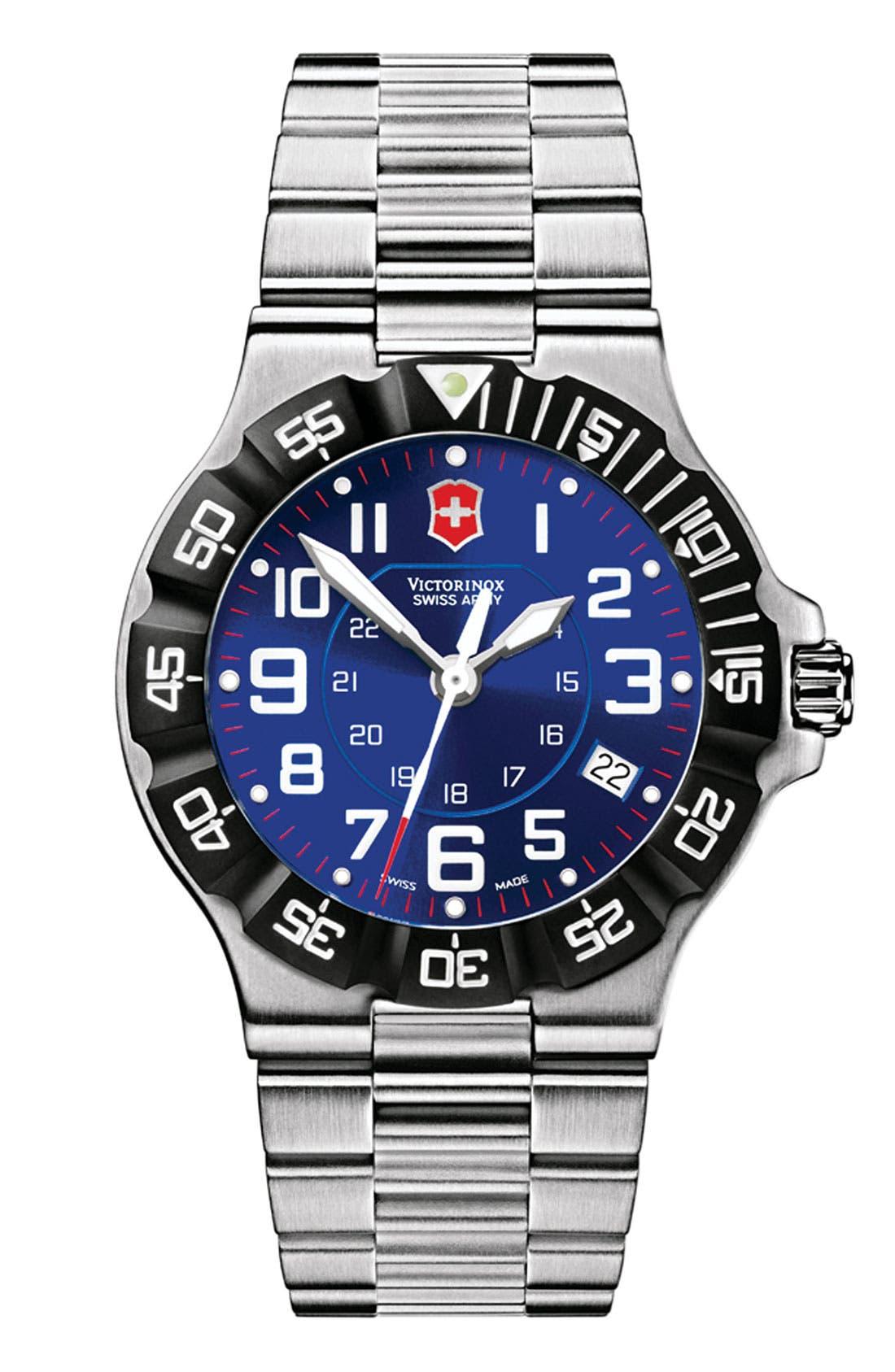 Alternate Image 1 Selected - Victorinox Swiss Army® 'Summit XLT' Large Stainless Steel Bracelet Watch