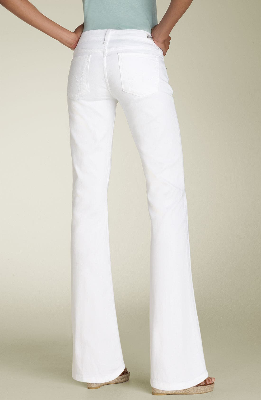 Alternate Image 2  - Citizens of Humanity 'Dita' Bootcut Stretch Jeans (Santorini White) (Petite)
