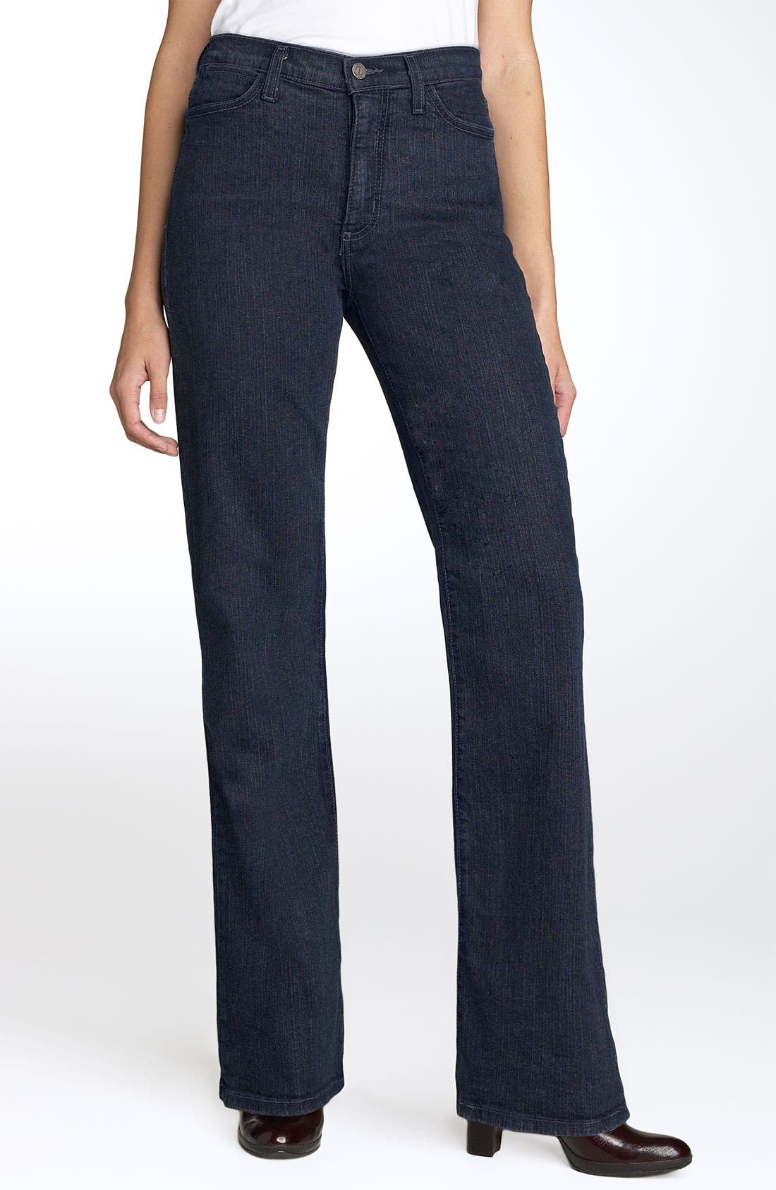 Alternate Image 1 Selected - NYDJ 'Marilyn' Stretch Straight Leg Jeans (Blue Black) (Regular & Petite)