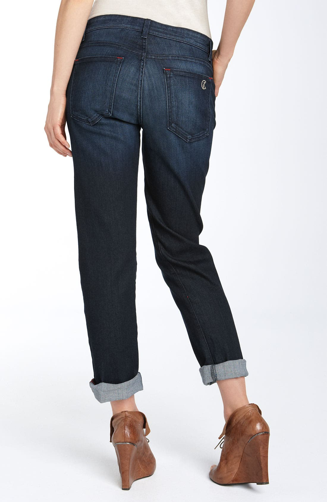 Main Image - CJ by Cookie Johnson 'Praise' Relaxed Cropped Jeans (Blue Iris Rinse Wash)