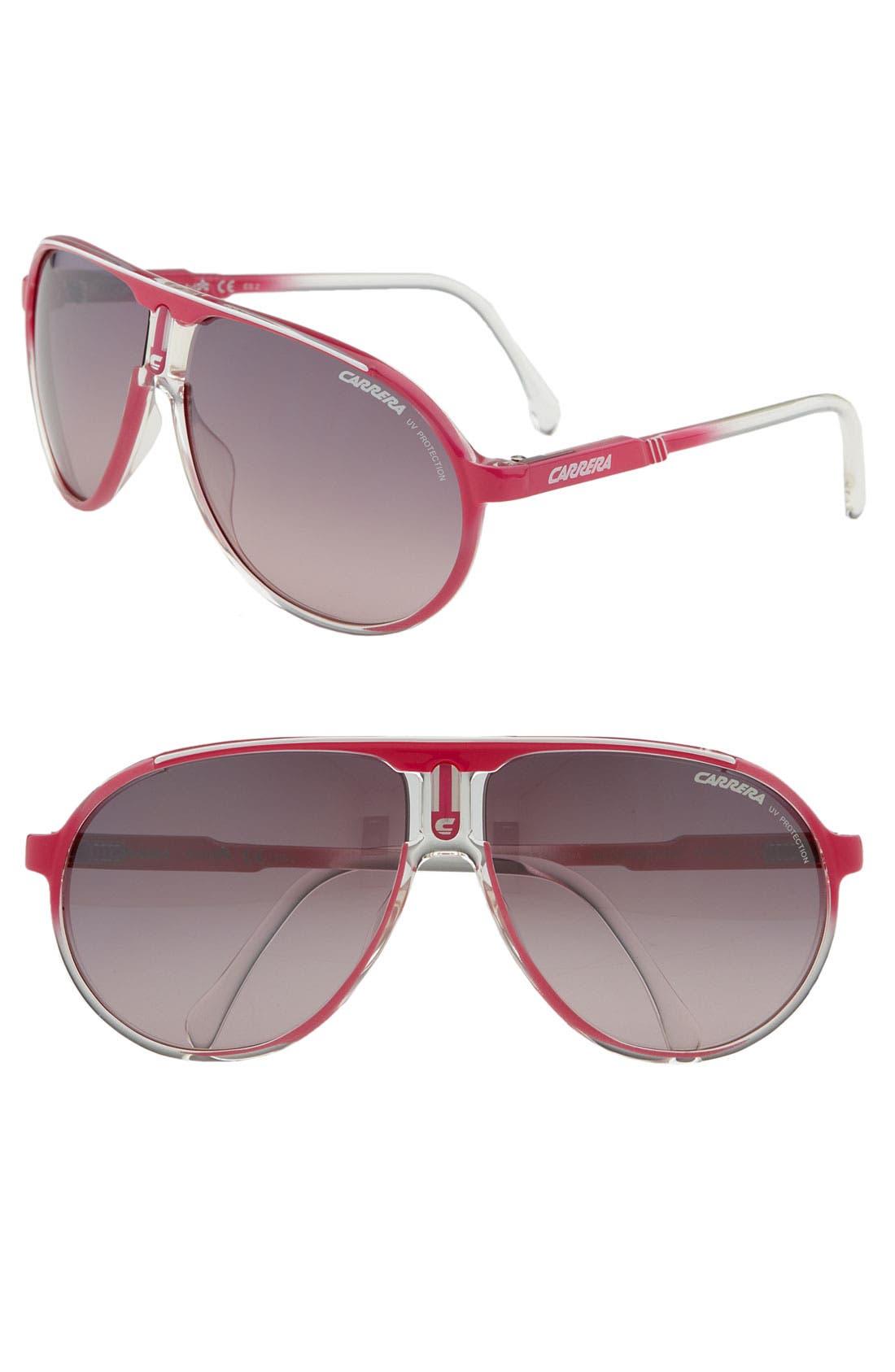 Alternate Image 1 Selected - Carrera Eyewear 'Champion' 62mm Round Aviator Sunglasses
