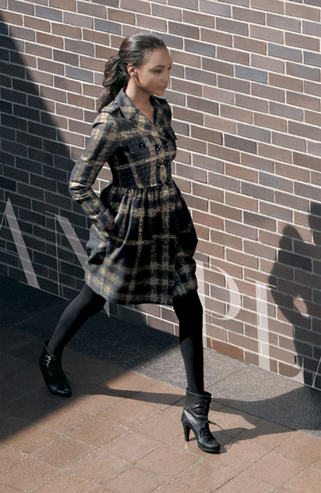 Alternate Image 3  - Burberry London Shimmer Check Trench Coat