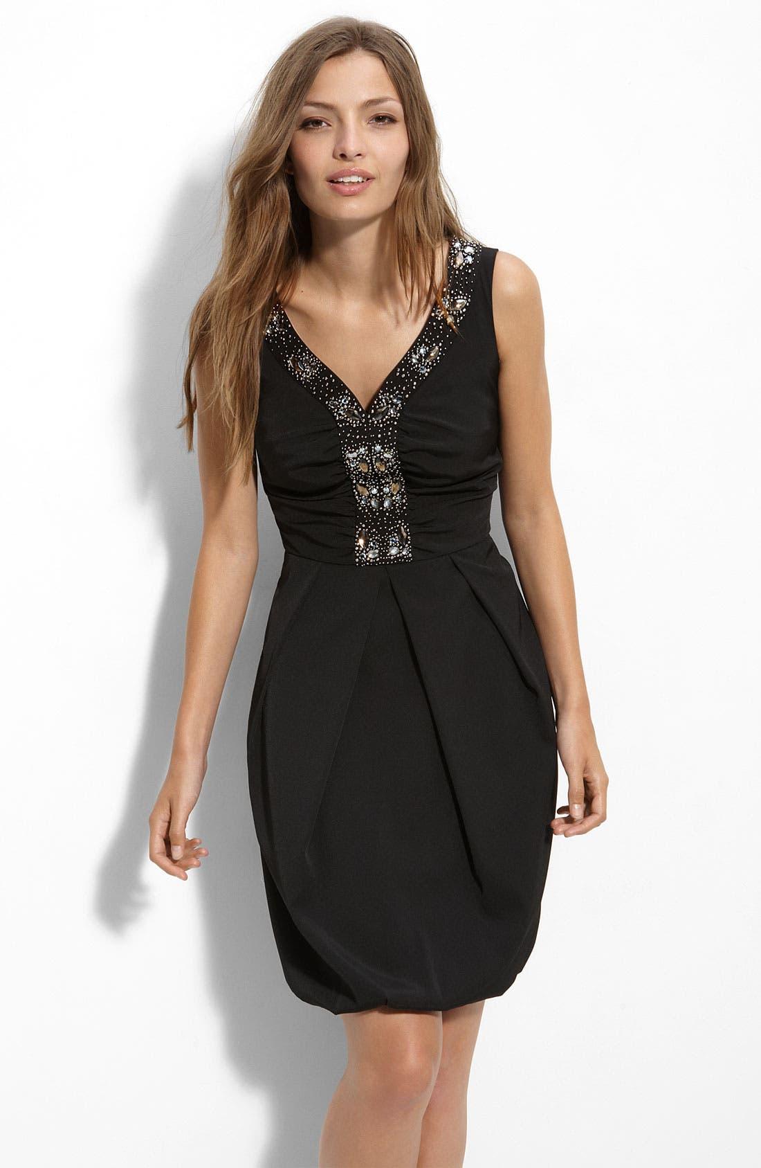 Alternate Image 1 Selected - Donna Ricco Beaded Bubble Hem Dress (Plus)