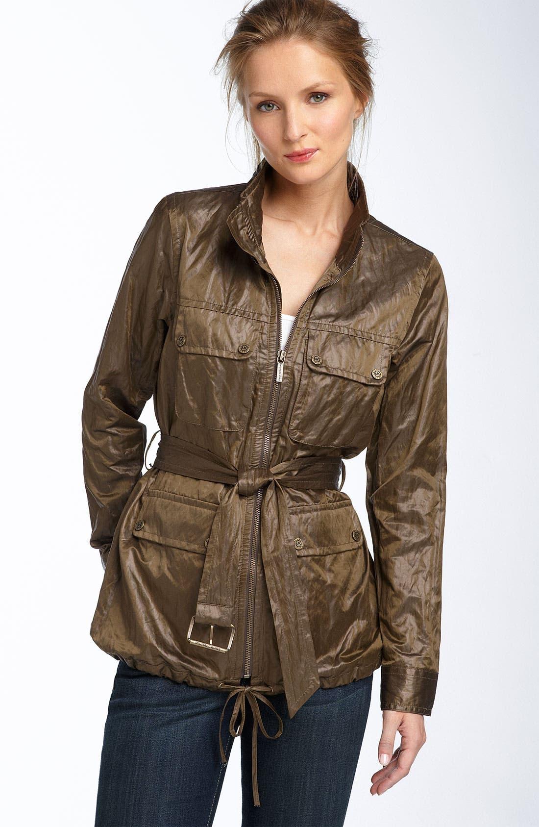 Alternate Image 1 Selected - MICHAEL Michael Kors Belted Military Jacket