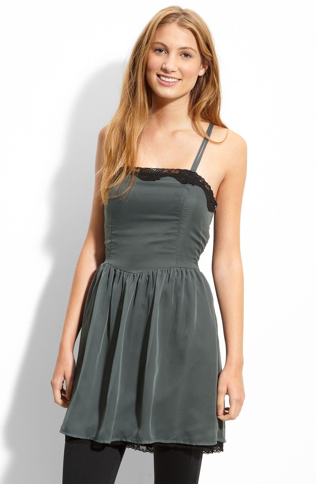 Alternate Image 1 Selected - Mimi Chica Lace Trim Dress (Juniors)