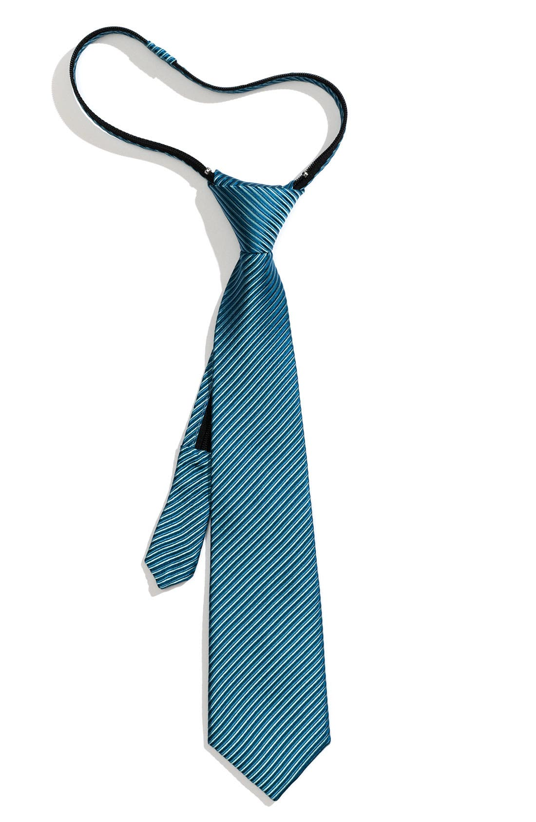 Alternate Image 1 Selected - Nordstrom Stripe Zipper Tie (Little Boys)