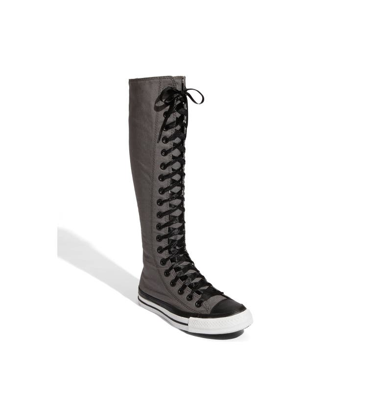 Chooka Women's Wide Calf Memory Foam Rain Boot A smooth matte rain boot with an adjustable back gusset and antique hardware accents. This boot is great for a wide calf or athletic calf.