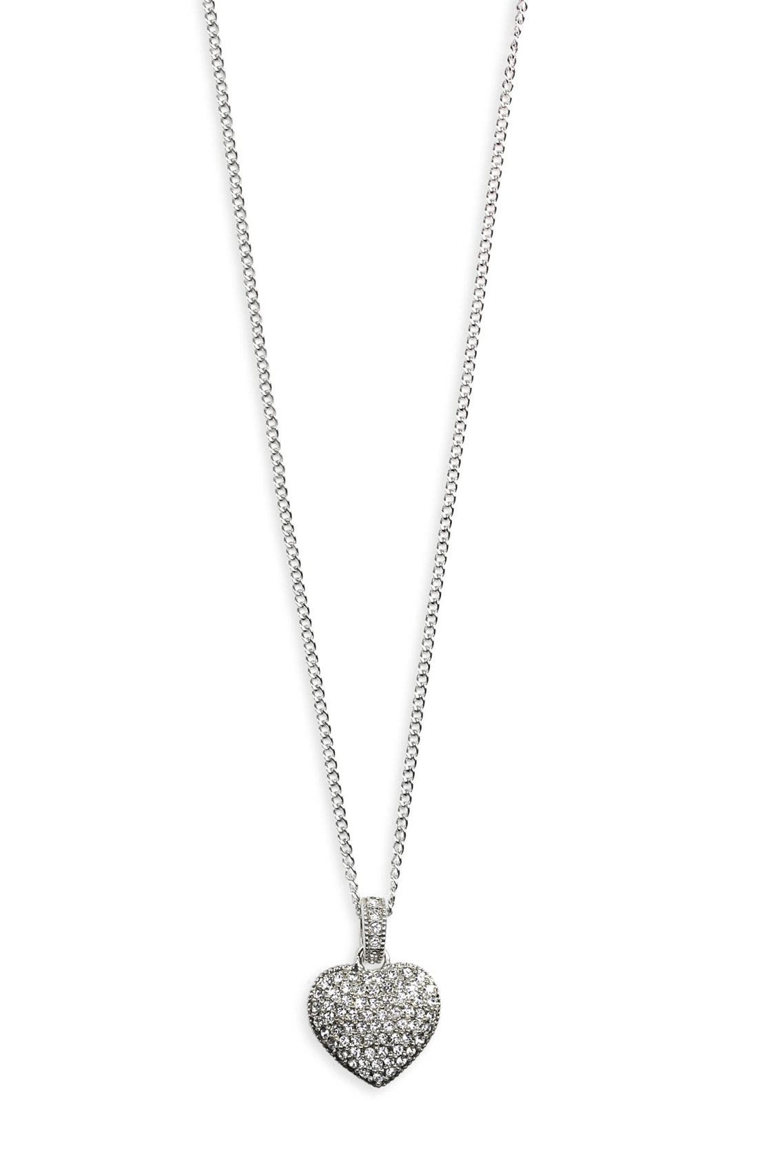 Alternate Image 1 Selected - Judith Jack Reversible Pavé Heart Pendant Necklace