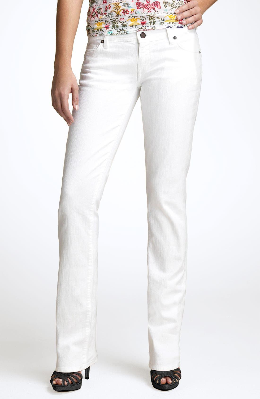 Alternate Image 2  - Citizens of Humanity 'Ava' Straight Leg Stretch Jeans (Santorini White Wash)