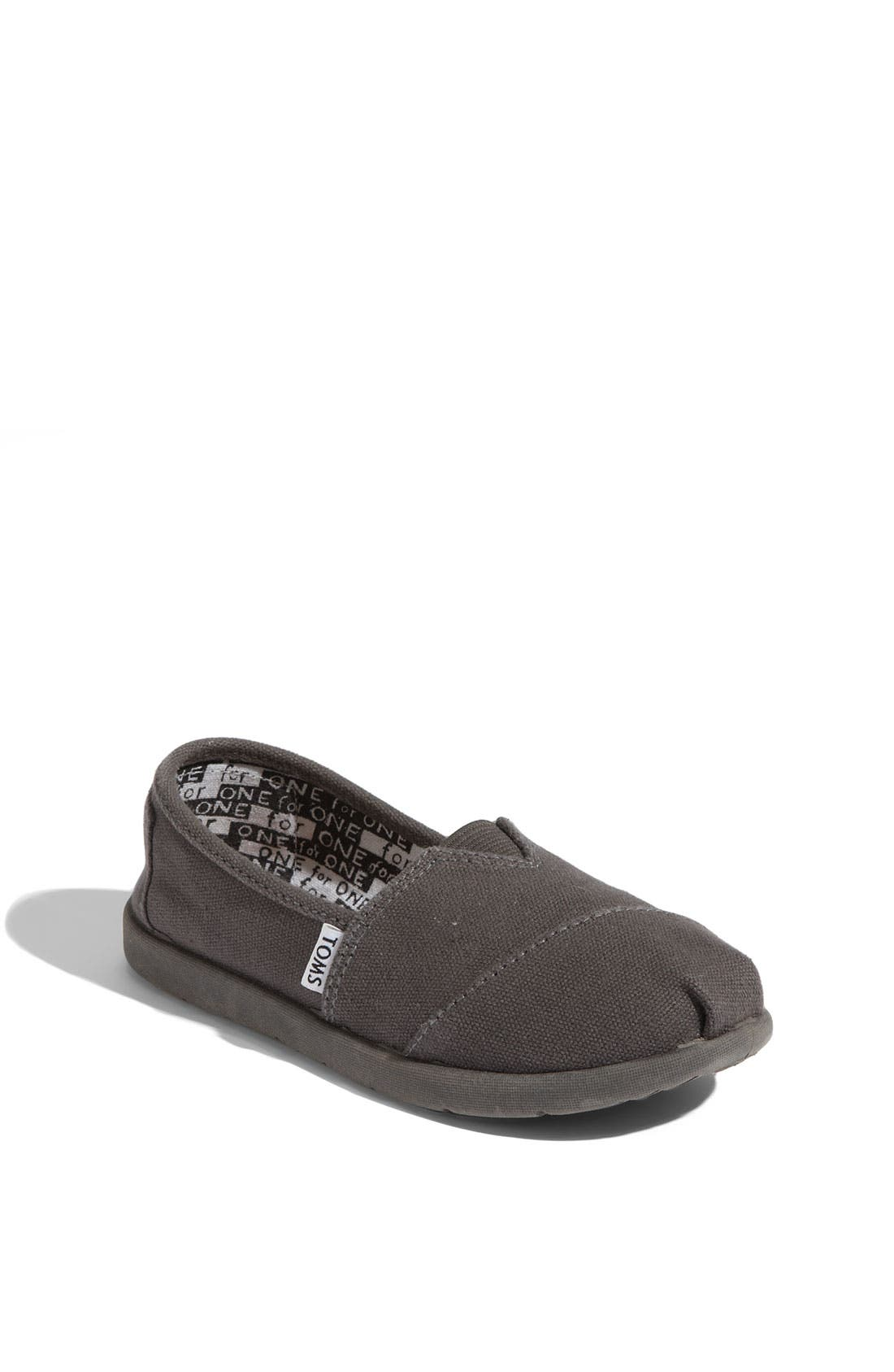 Main Image - TOMS 'Classic - Youth' Slip-On (Toddler, Little Kid & Big Kid)