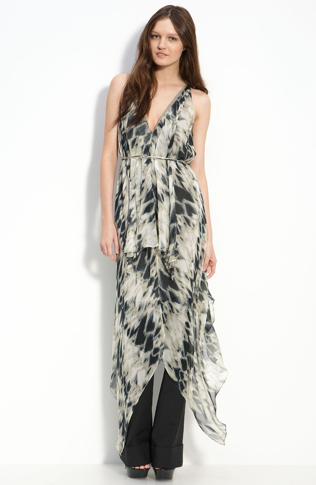 Alternate Image 1 Selected - Robert Rodriguez Racerback Silk Dress