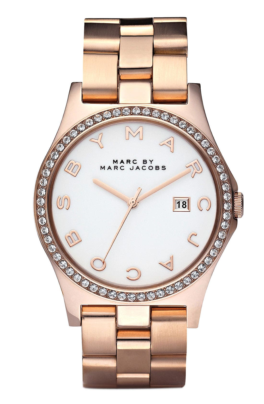 Alternate Image 1 Selected - MARC JACOBS 'Henry' Rose Gold Plated Watch