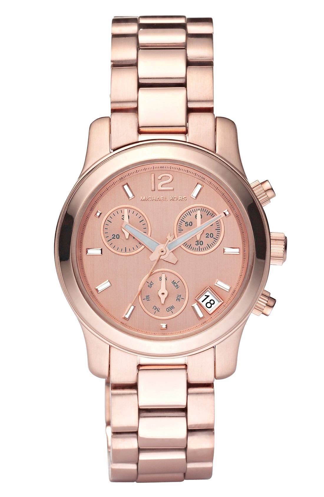 Main Image - Michael Kors 'Mini Runway' Chronograph Bracelet Watch, 33mm