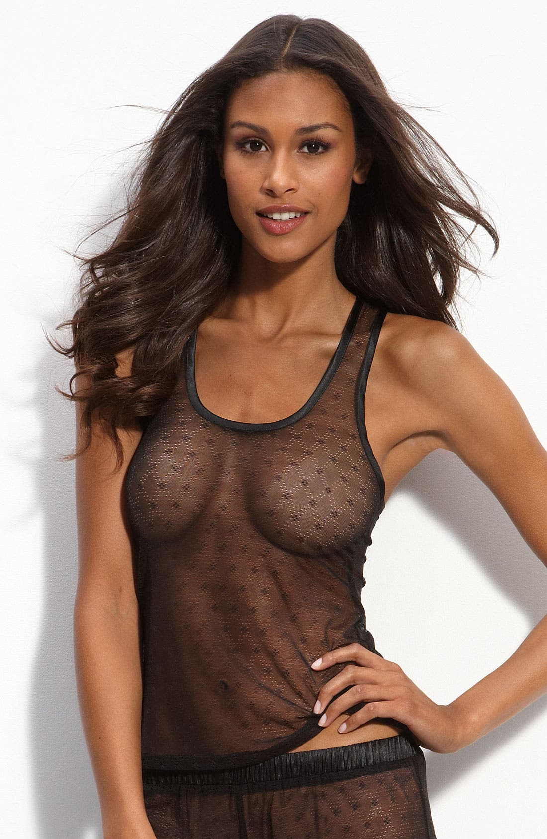 Alternate Image 1 Selected - Honeydew Intimates Diamond Mesh Tank