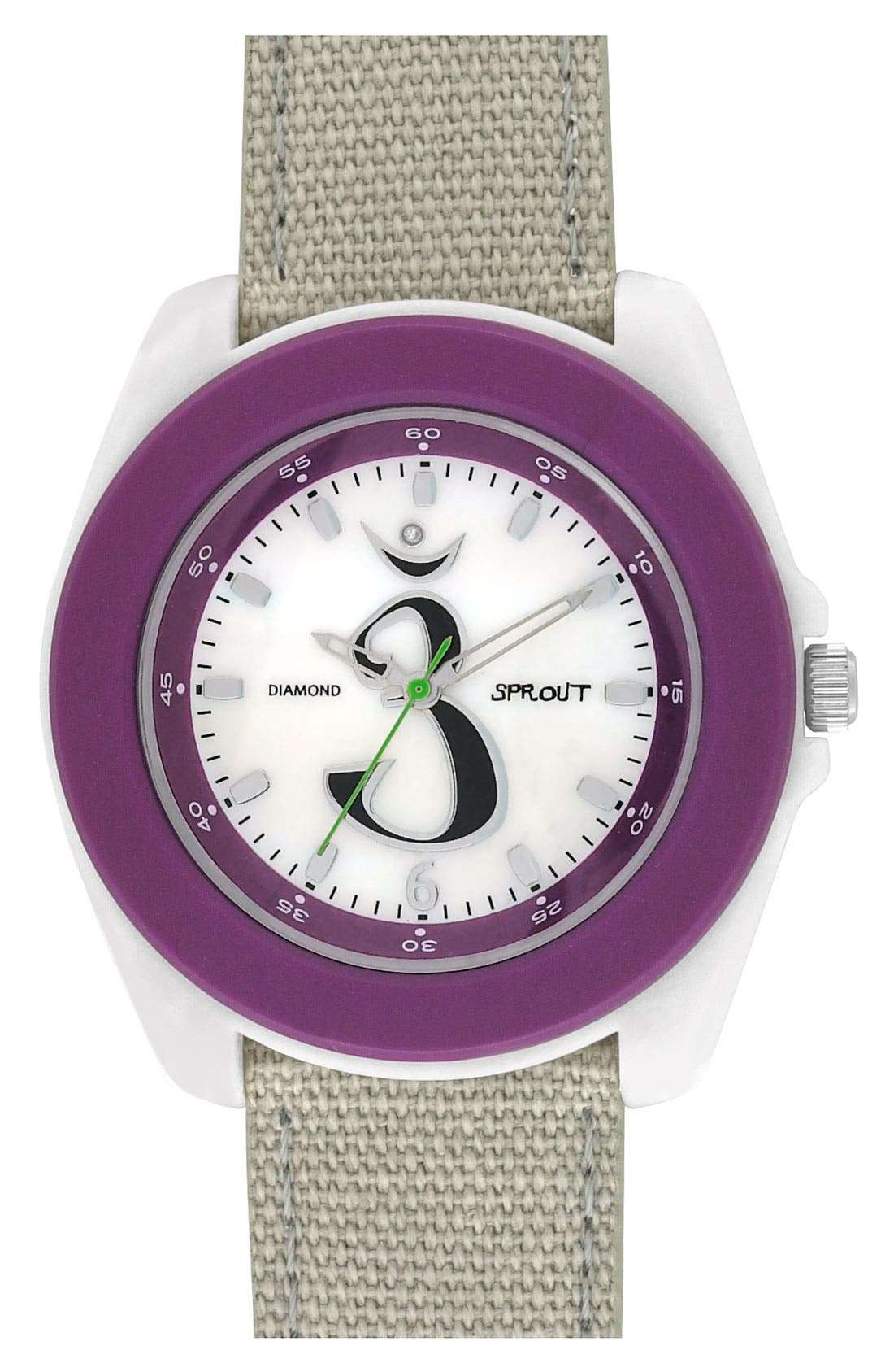Alternate Image 1 Selected - SPROUT™ Watches 'Chakra' Diamond Organic Strap Watch, 44mm