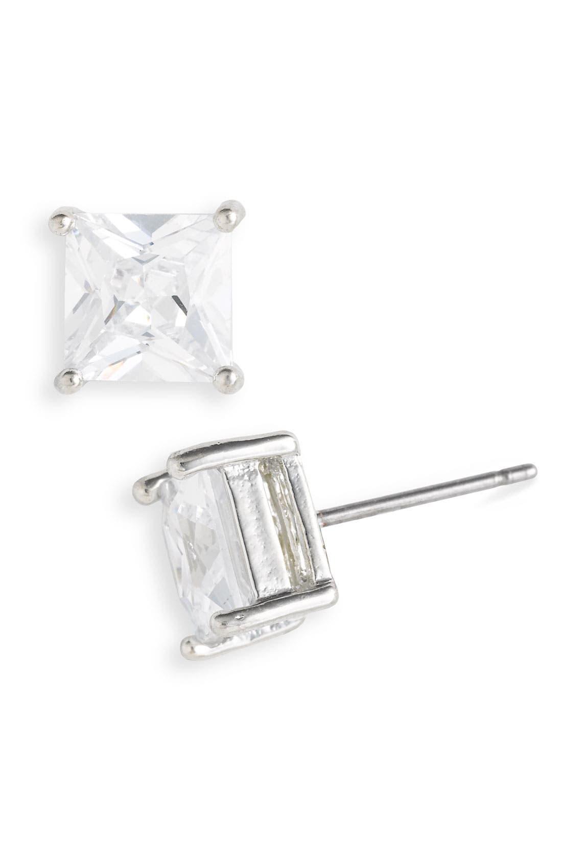 Alternate Image 1 Selected - Rachel 7mm Cubic Zirconia Stud Earrings
