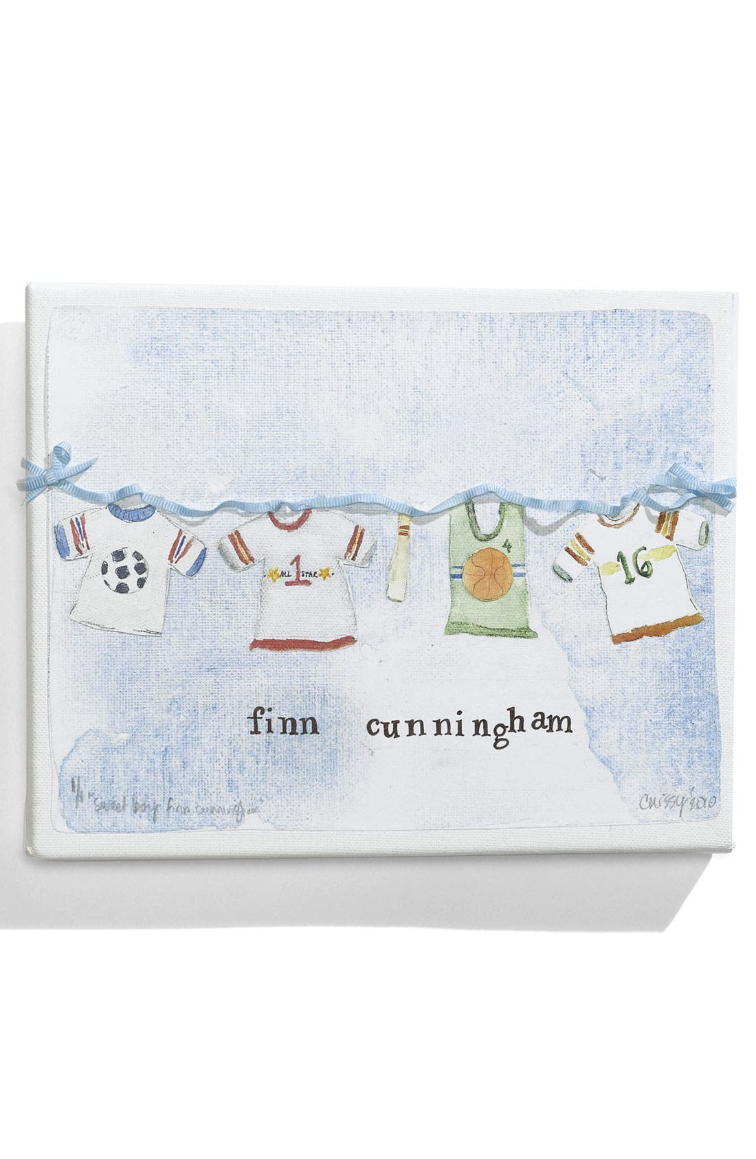Main Image - Someday Inc. Watercolor-Inspired Personalized Canvas