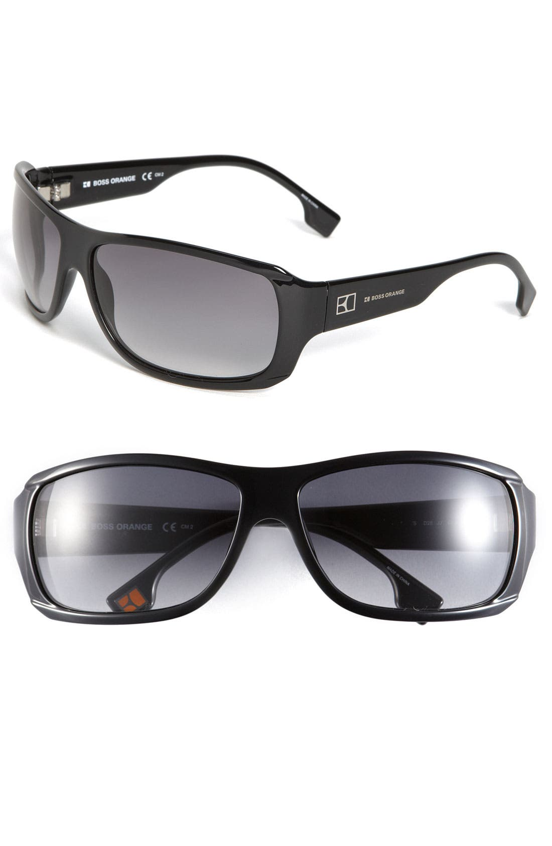 Alternate Image 1 Selected - BOSS Orange Rectangle Sunglasses