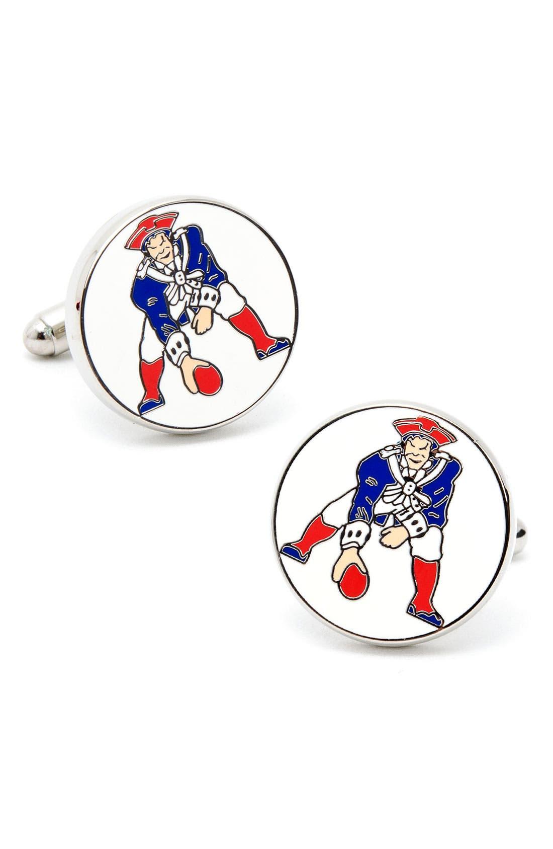 Main Image - Cufflinks, Inc. 'New England Patriots' Cuff Links