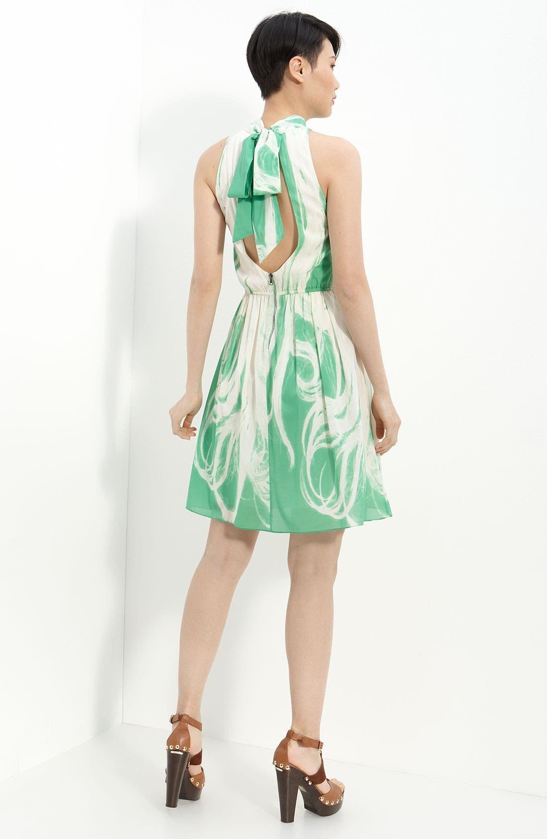 Alternate Image 2  - Alice + Olivia Cutout Back Stretch Silk Dress