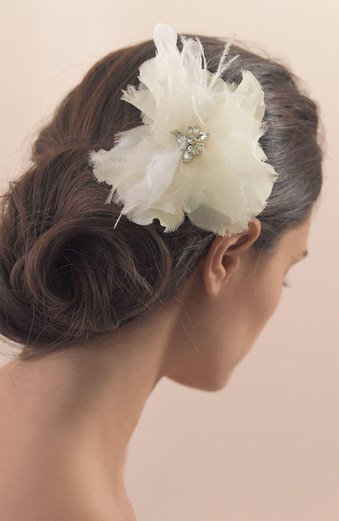Alternate Image 2  - Tasha Feather Flower Clip
