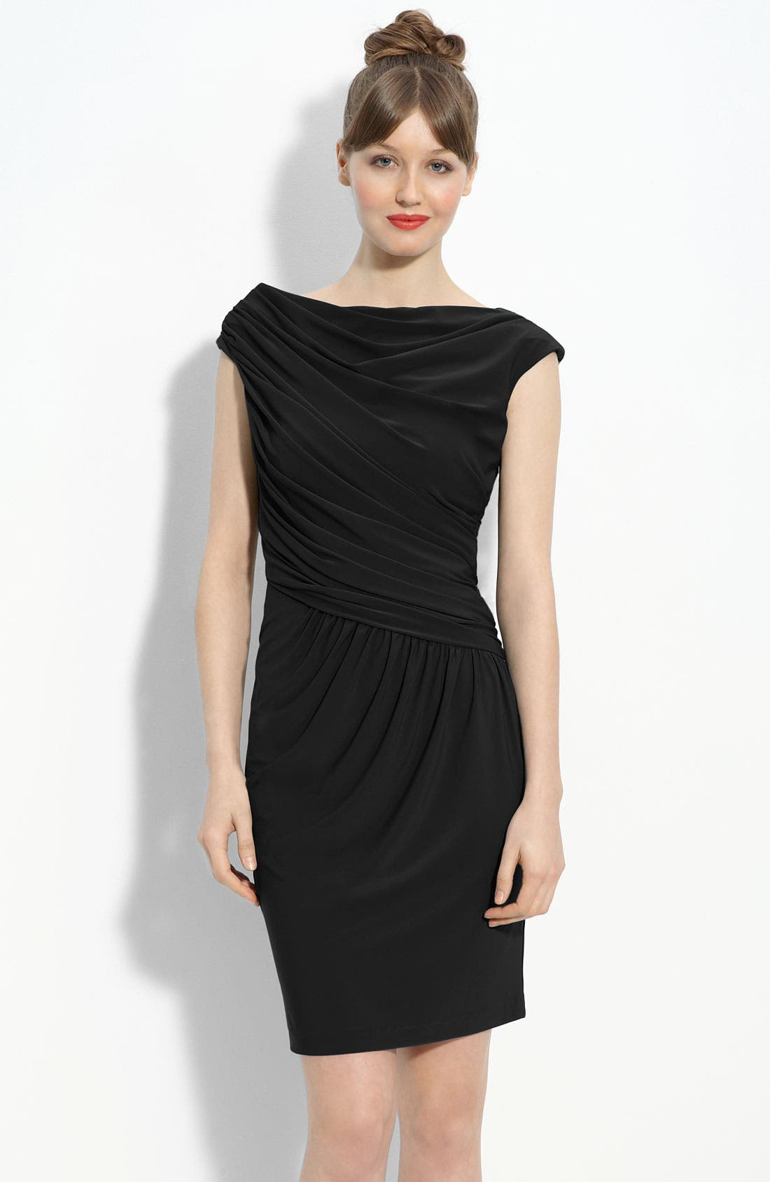Main Image - Maggy London Draped Jersey Sheath Dress