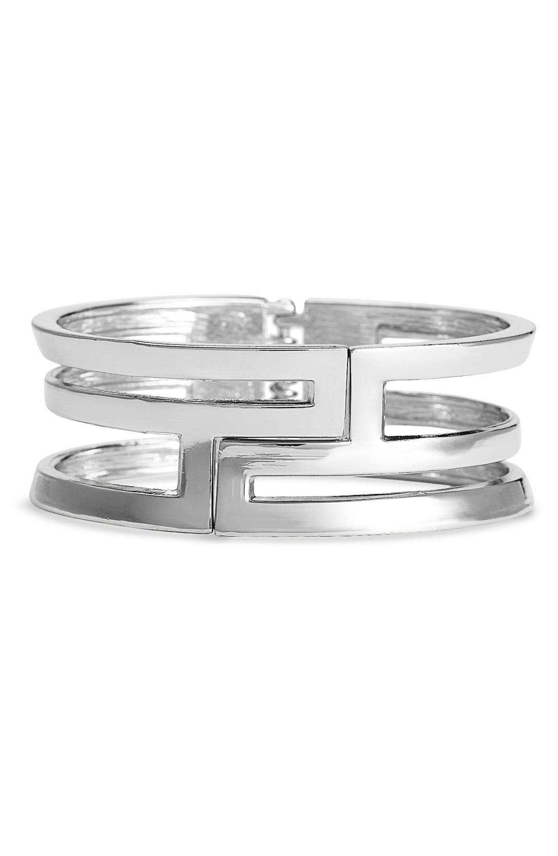 Main Image - Cara Accessories Cutout Hinged Bracelet