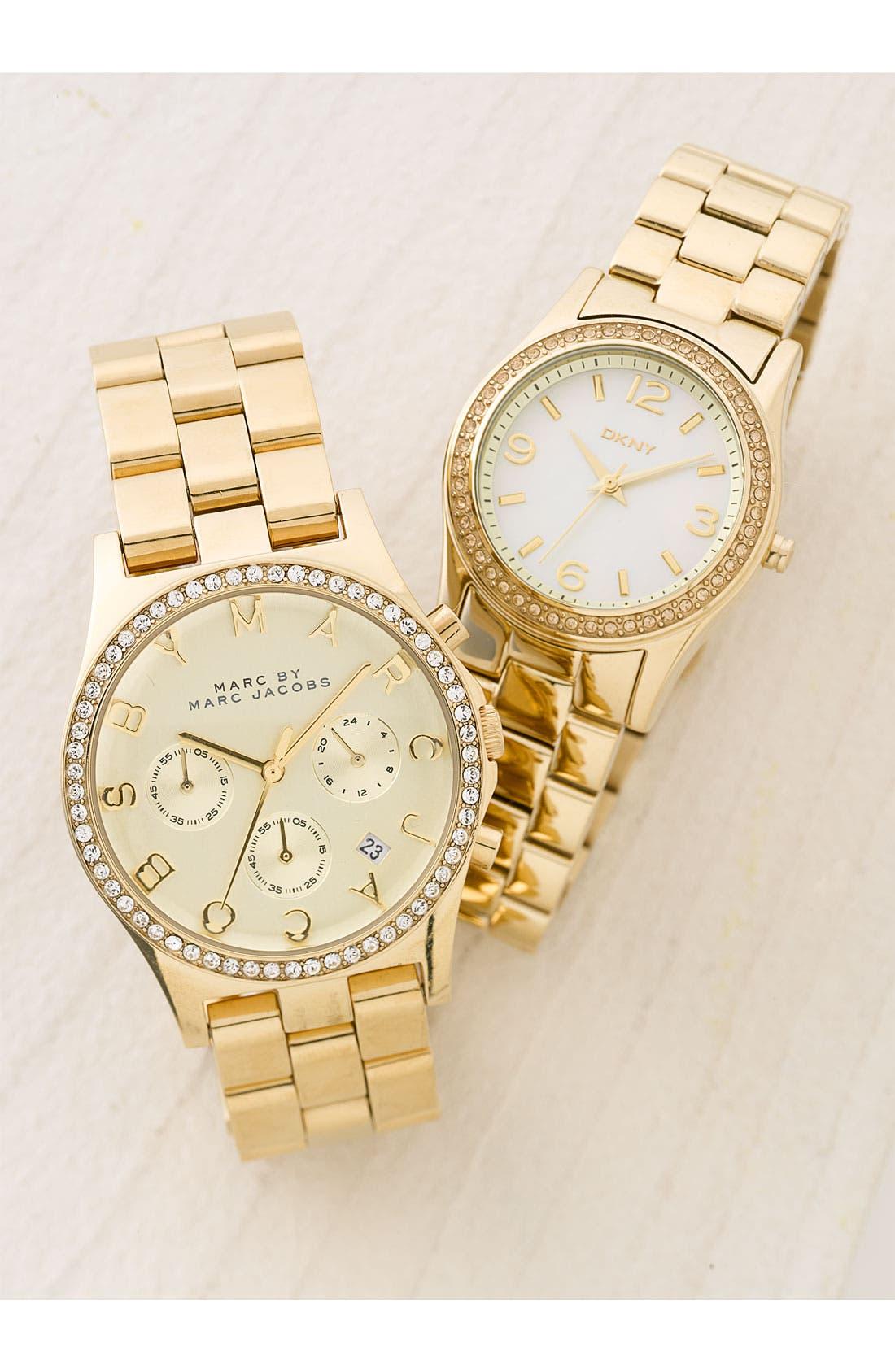 Alternate Image 2  - DKNY Round Bracelet Watch, 32mm