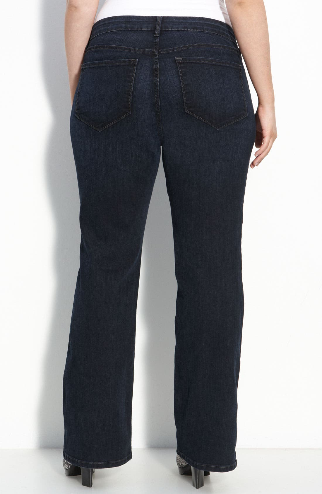 Alternate Image 2  - Not Your Daughter's Jeans® Flare Leg Stretch Jeans (Storm Wash) (Plus)