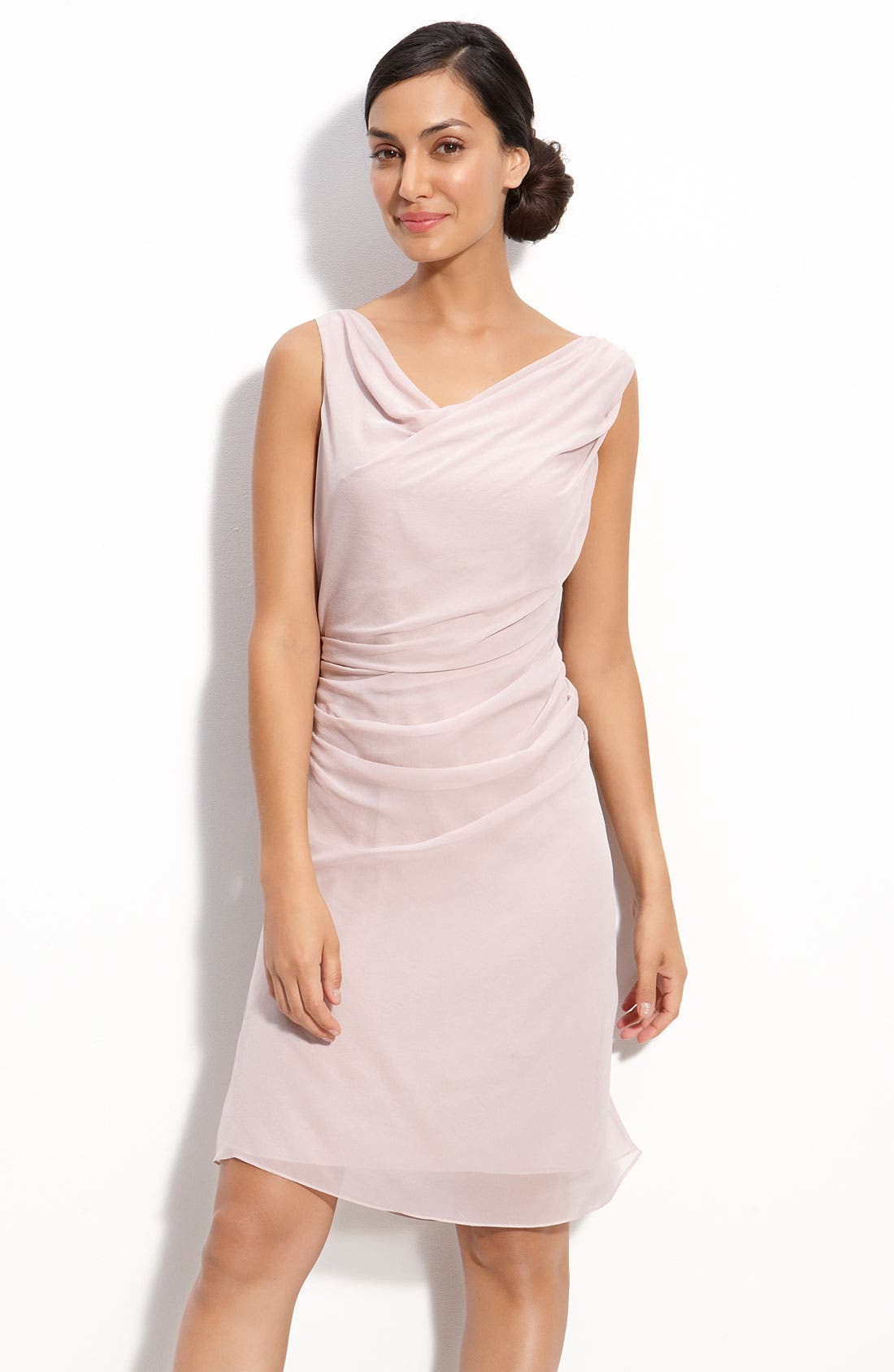 Alternate Image 1 Selected - Suzi Chin for Maggy Boutique Draped Chiffon Sheath Dress