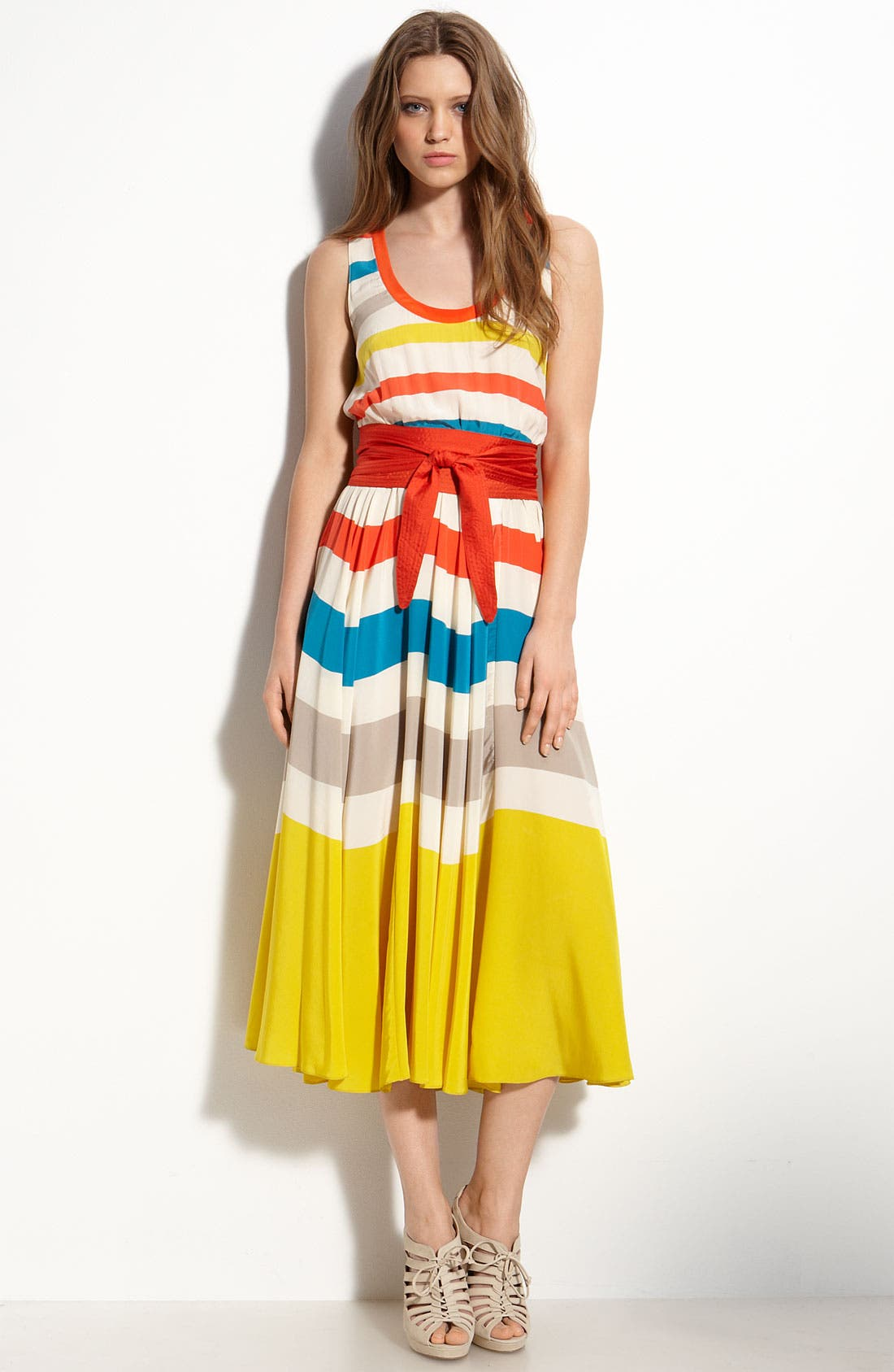 Alternate Image 1 Selected - MARC BY MARC JACOBS 'Simone' Stripe Silk Dress