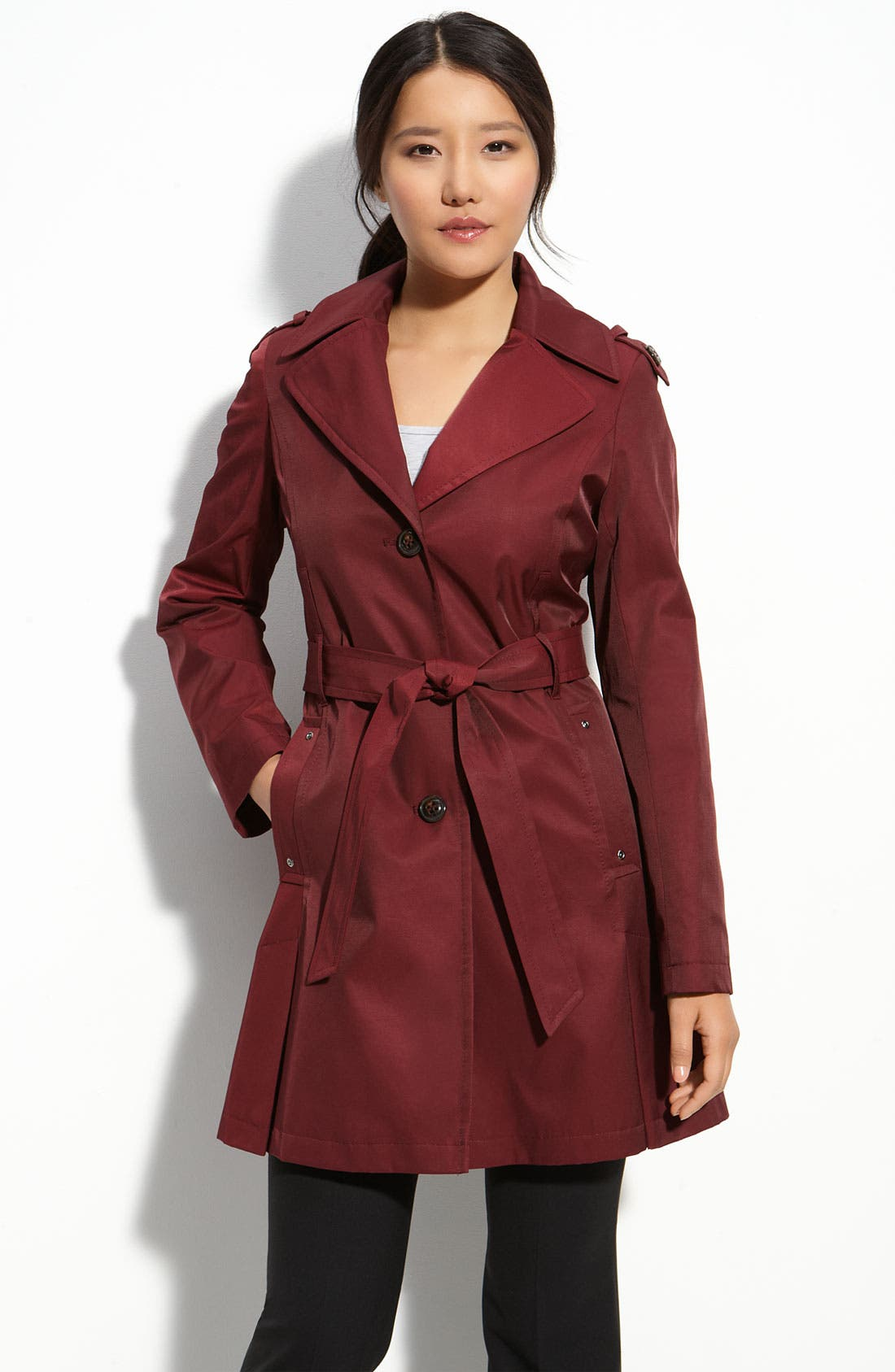 Alternate Image 1 Selected - DKNY Single Breasted Trench Coat