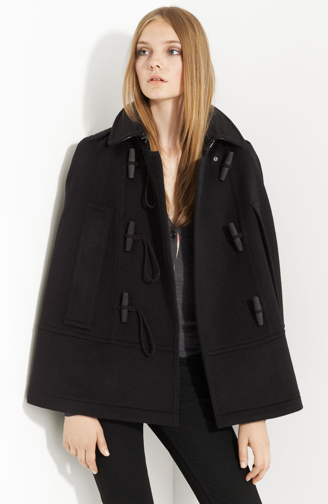Alternate Image 1 Selected - Burberry Brit Toggle Front Cape