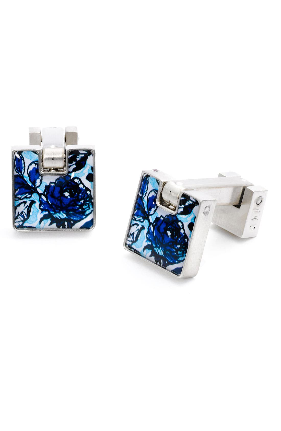 Main Image - Ted Baker London Floral Print Cuff Links