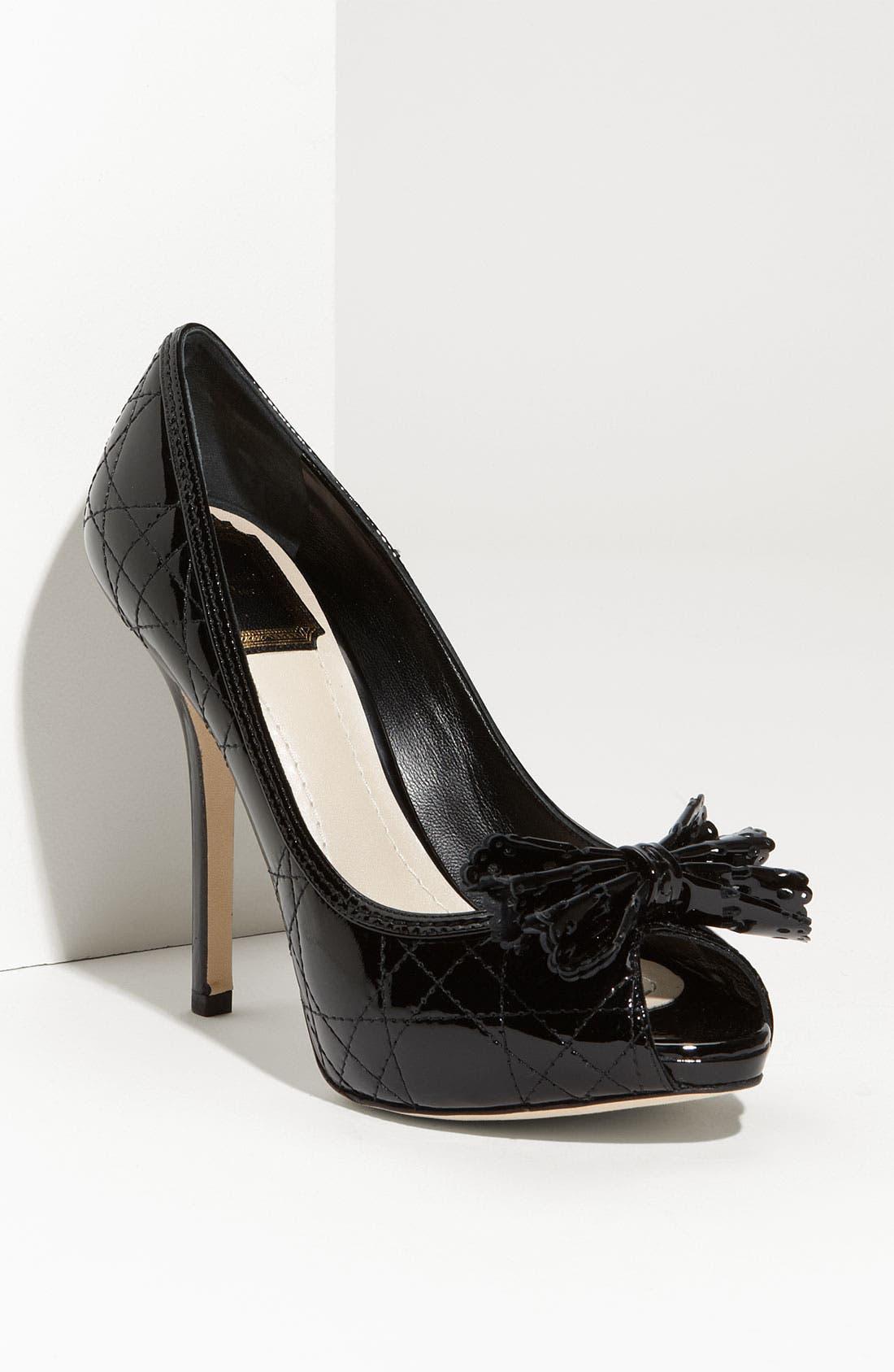 Alternate Image 1 Selected - Dior Cannage Stitch Peep Toe Pump