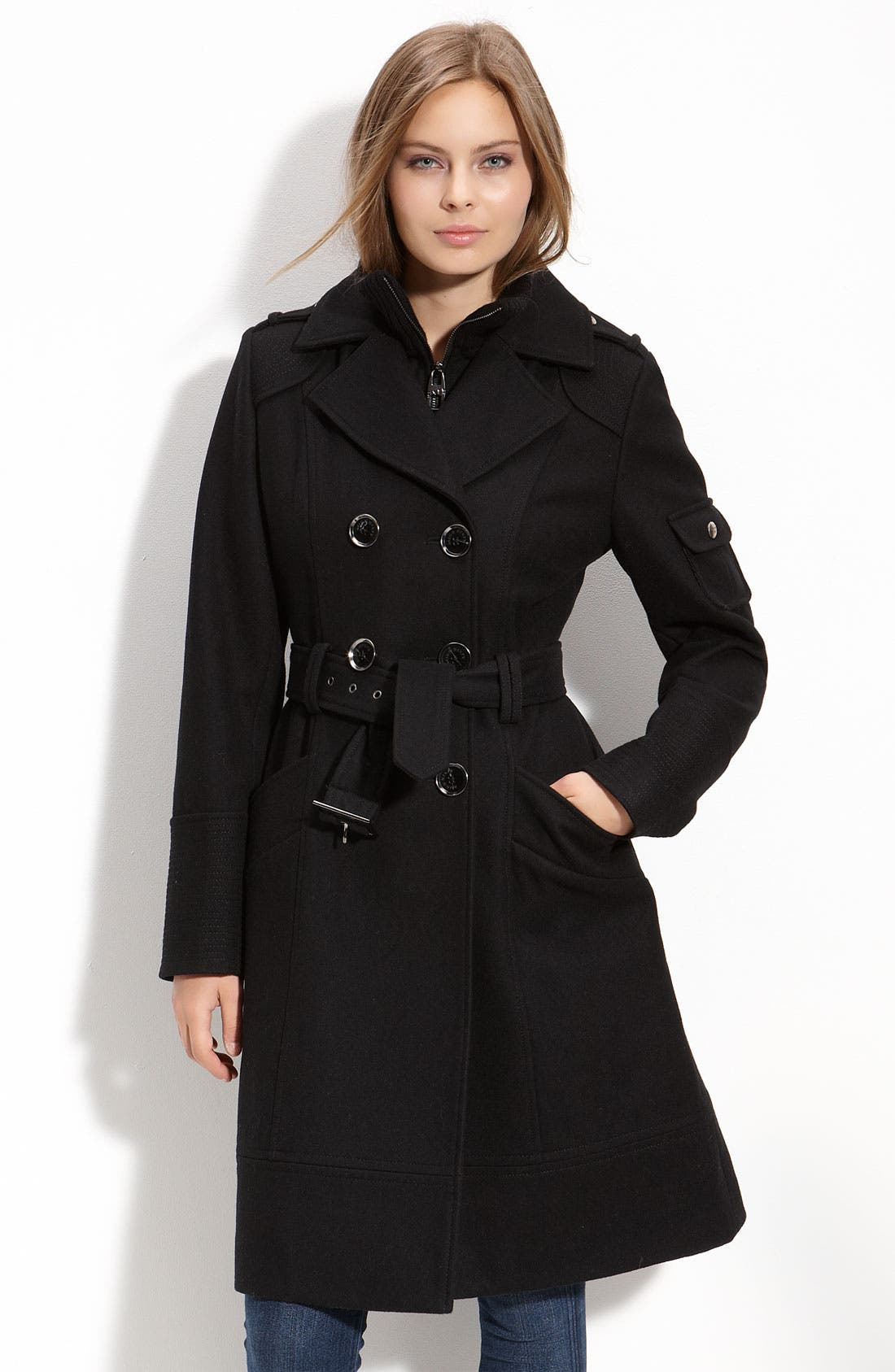 Alternate Image 1 Selected - M60 Miss Sixty Double Breasted Coat