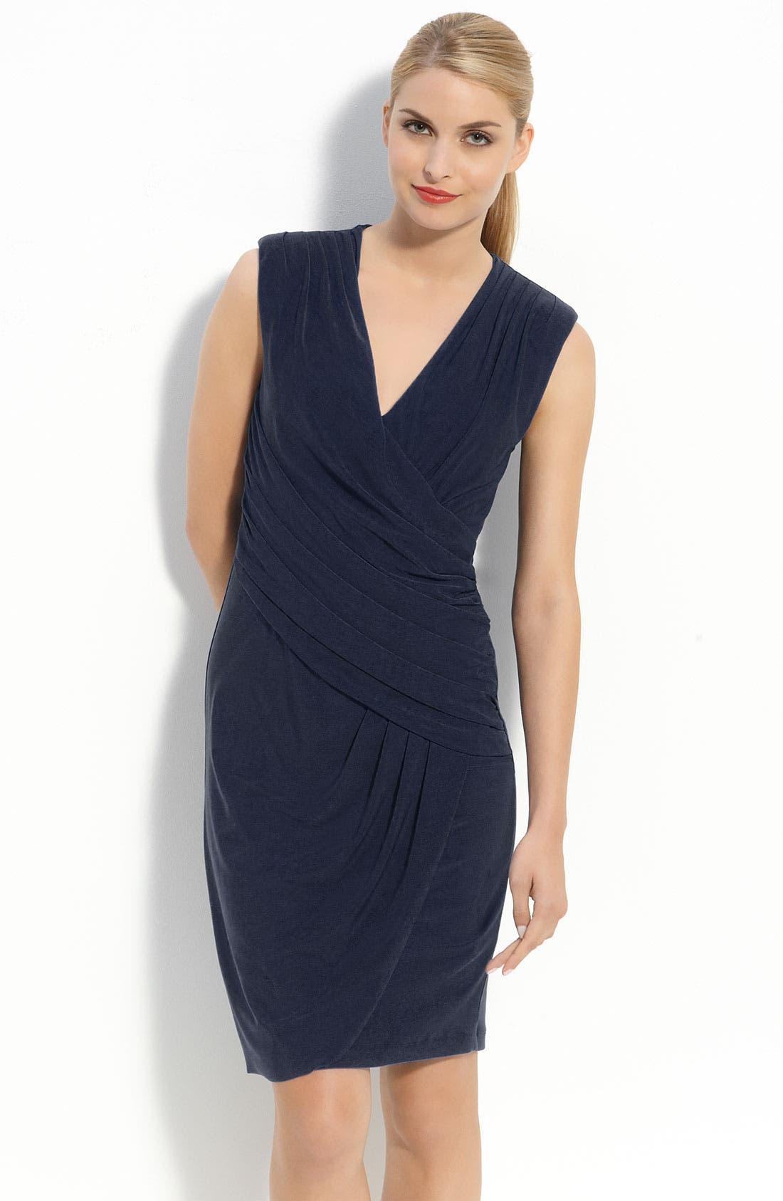 Main Image - Komarov Jersey Draped V-Neck Dress