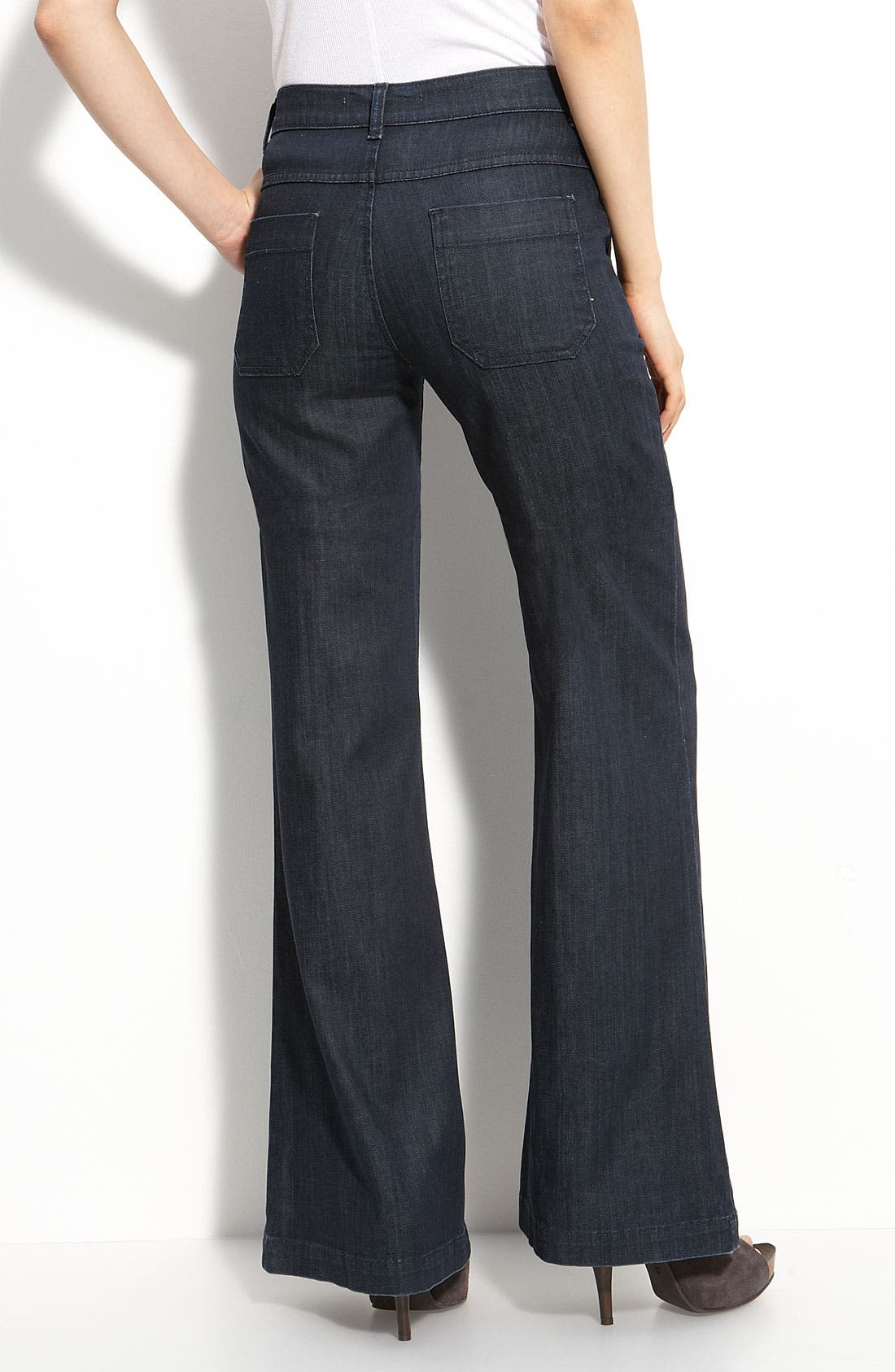 Alternate Image 1 Selected - Vince Stretch Denim Trousers