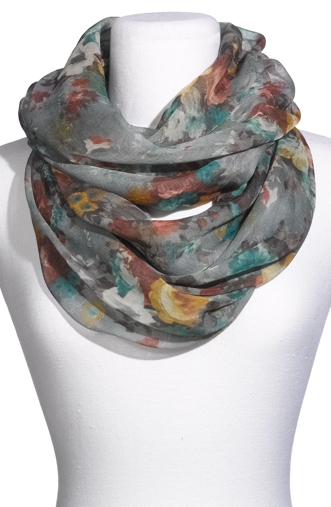 Main Image - Lulu Floral Infinity Scarf
