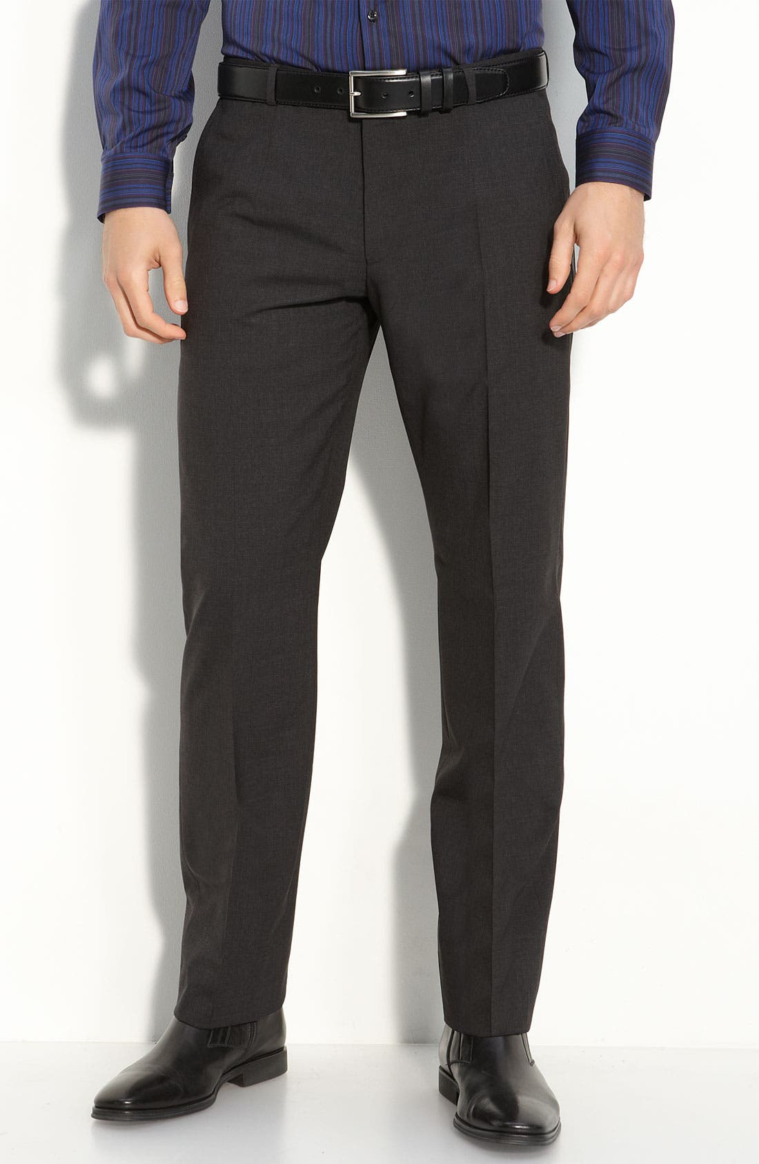 Main Image - HUGO 'Heise' Flat Front Wool Pants