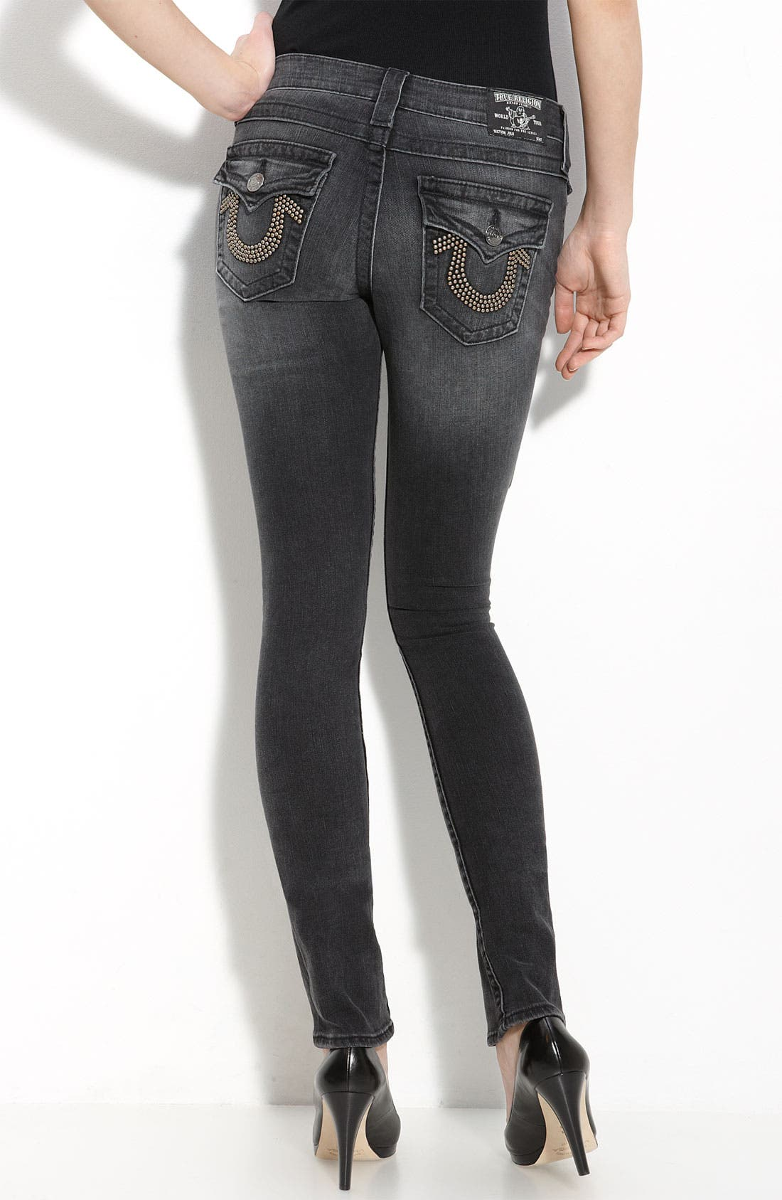 Main Image - True Religion Brand Jeans 'Julie' Skinny Stretch Jeans (Short Fuse Wash)