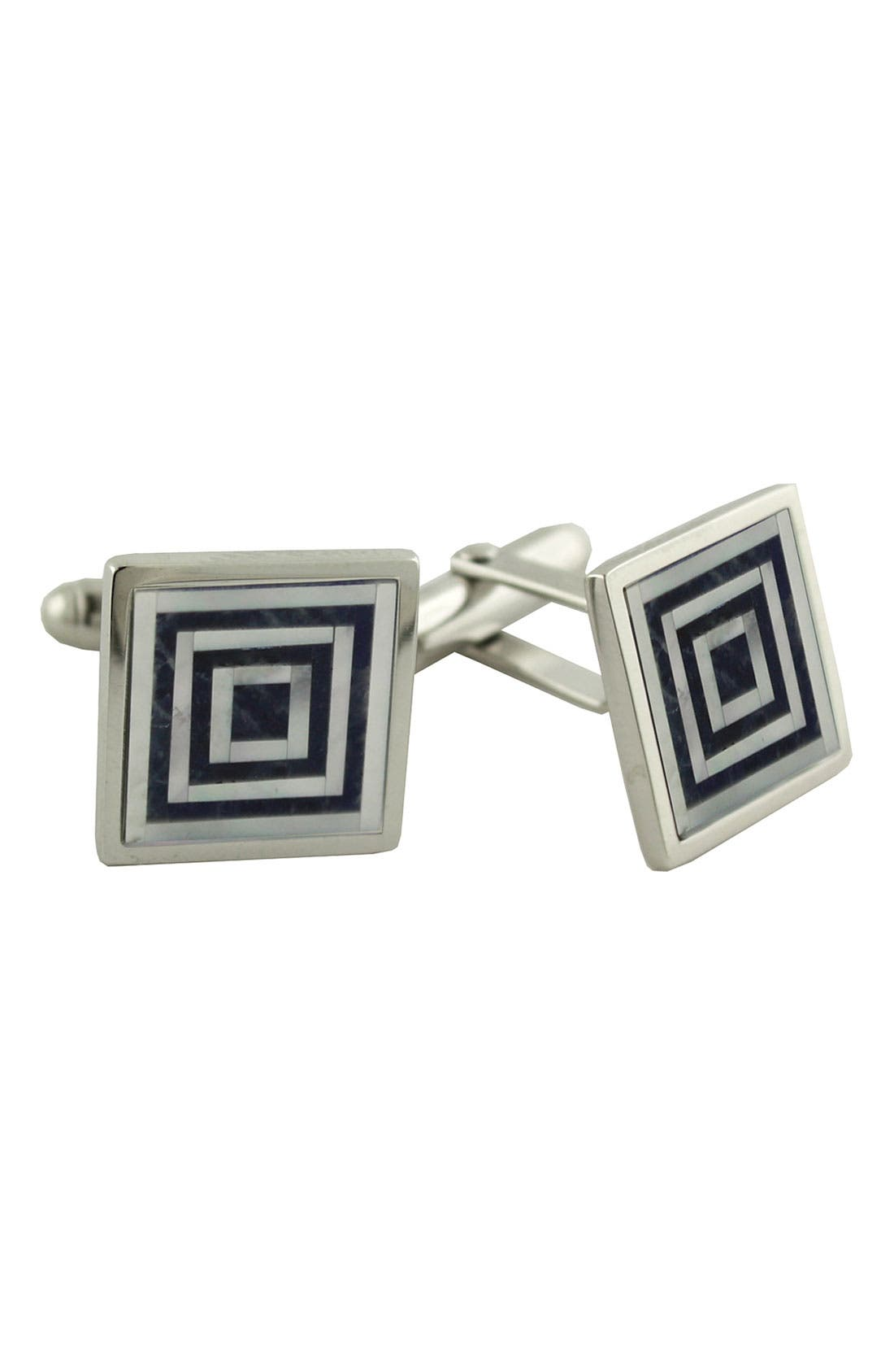 Main Image - David Donahue Sodalite & Mother-of-Pearl Cuff Links