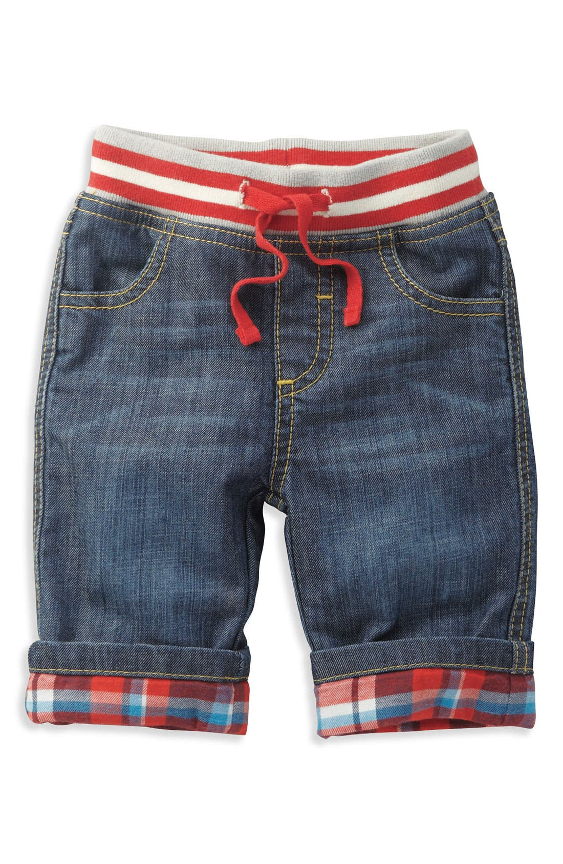 Alternate Image 1 Selected - Mini Boden Lined Jeans (Infant)