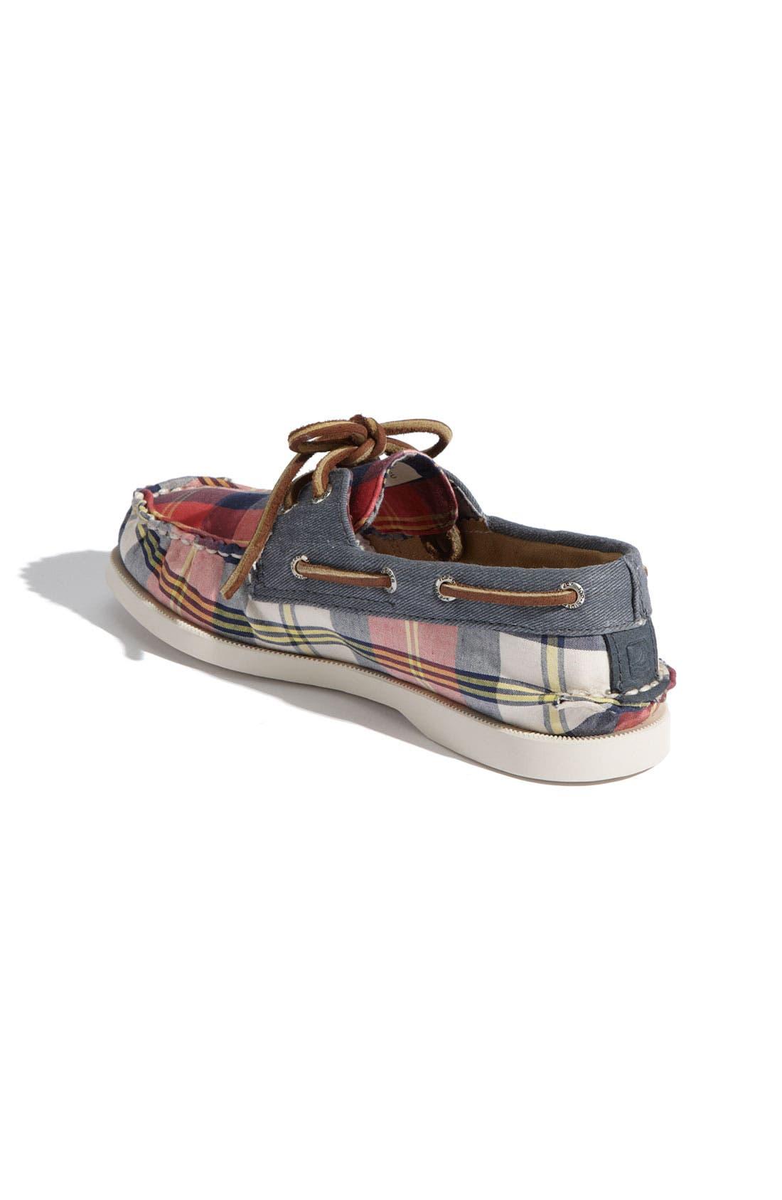 Alternate Image 2  - Sperry Top-Sider® 'Authentic Original Plaid' Boat Shoe (Walker & Toddler)