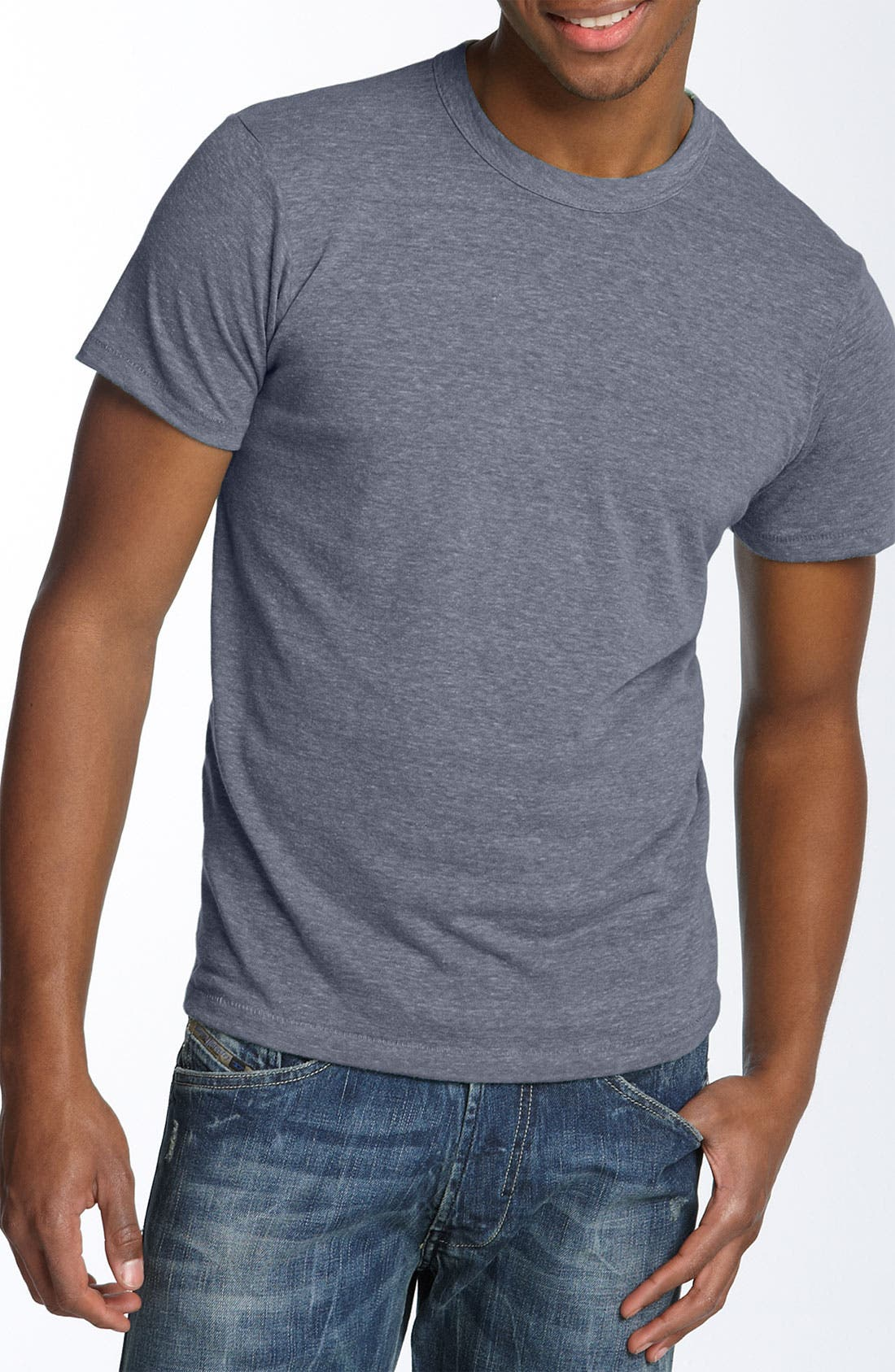 Main Image - Alternative Heathered Trim Fit Crewneck T-Shirt