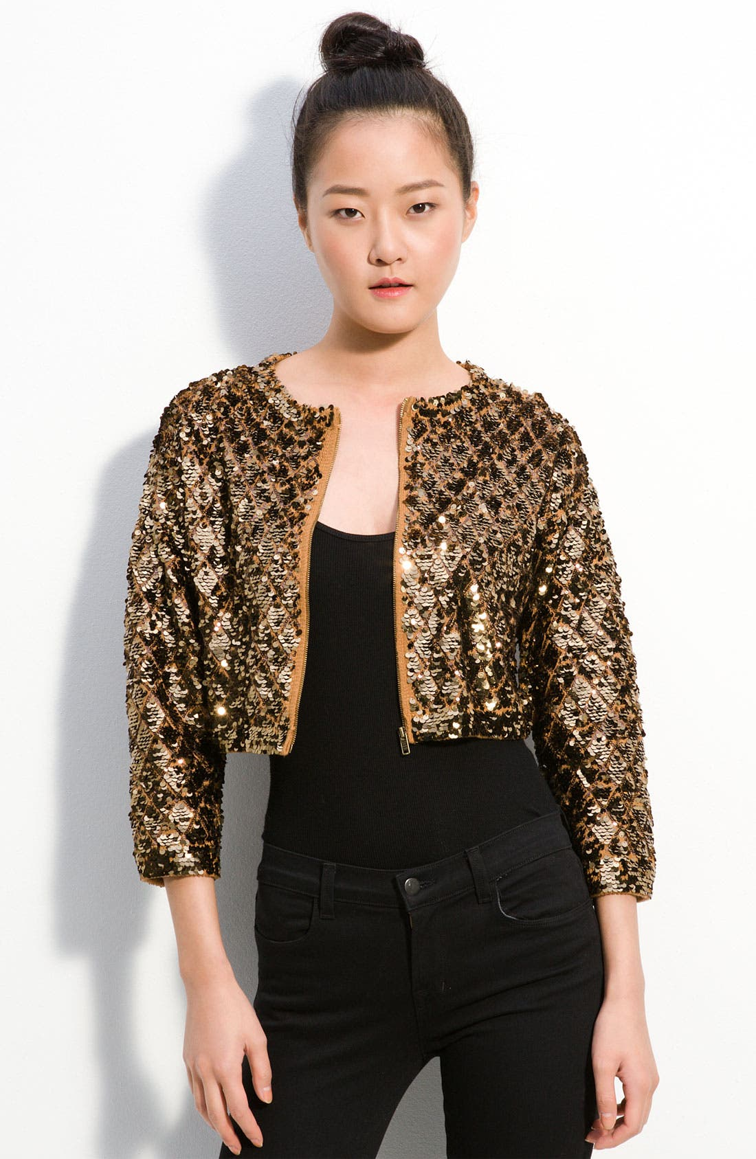 Alternate Image 1 Selected - MARC BY MARC JACOBS 'Tela' Cropped Sequin Sweater