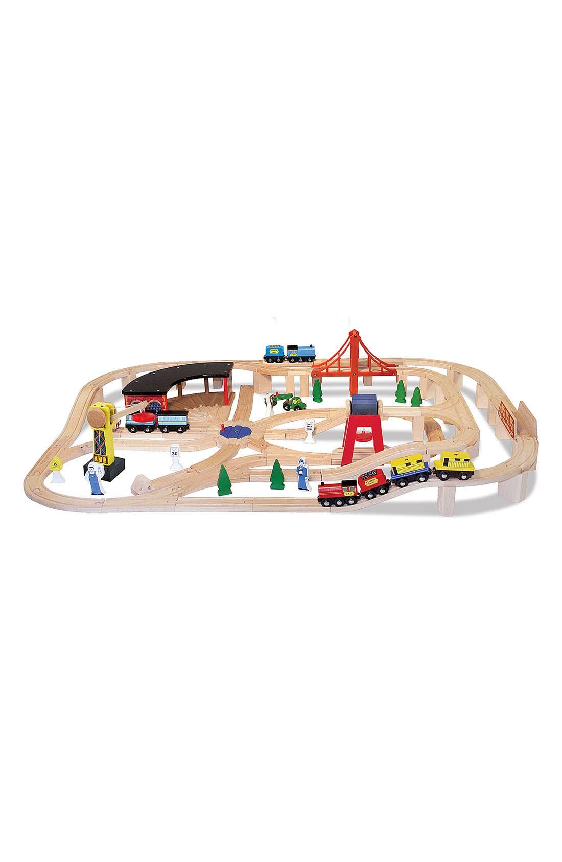Alternate Image 2  - Melissa & Doug 132-Piece Wooden Railway Set