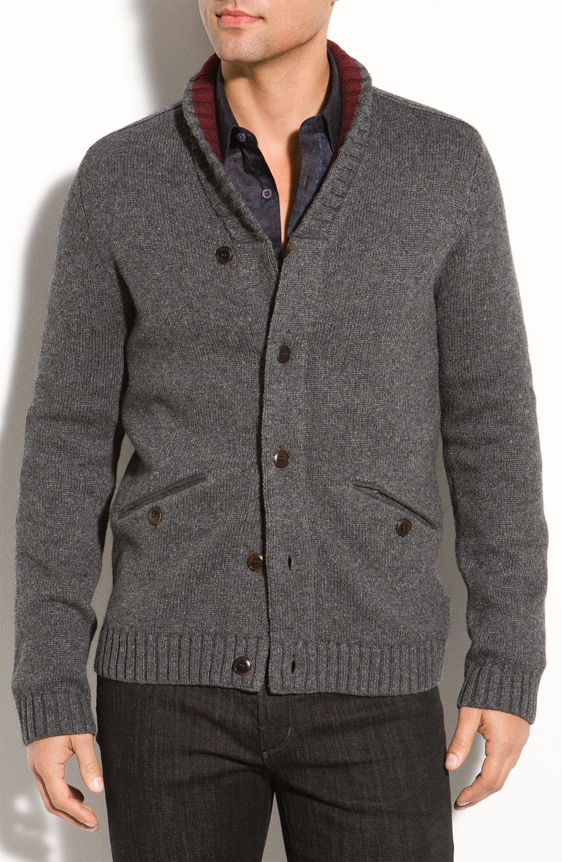 Main Image - Ted Baker London Long Sleeve Cardigan Sweater