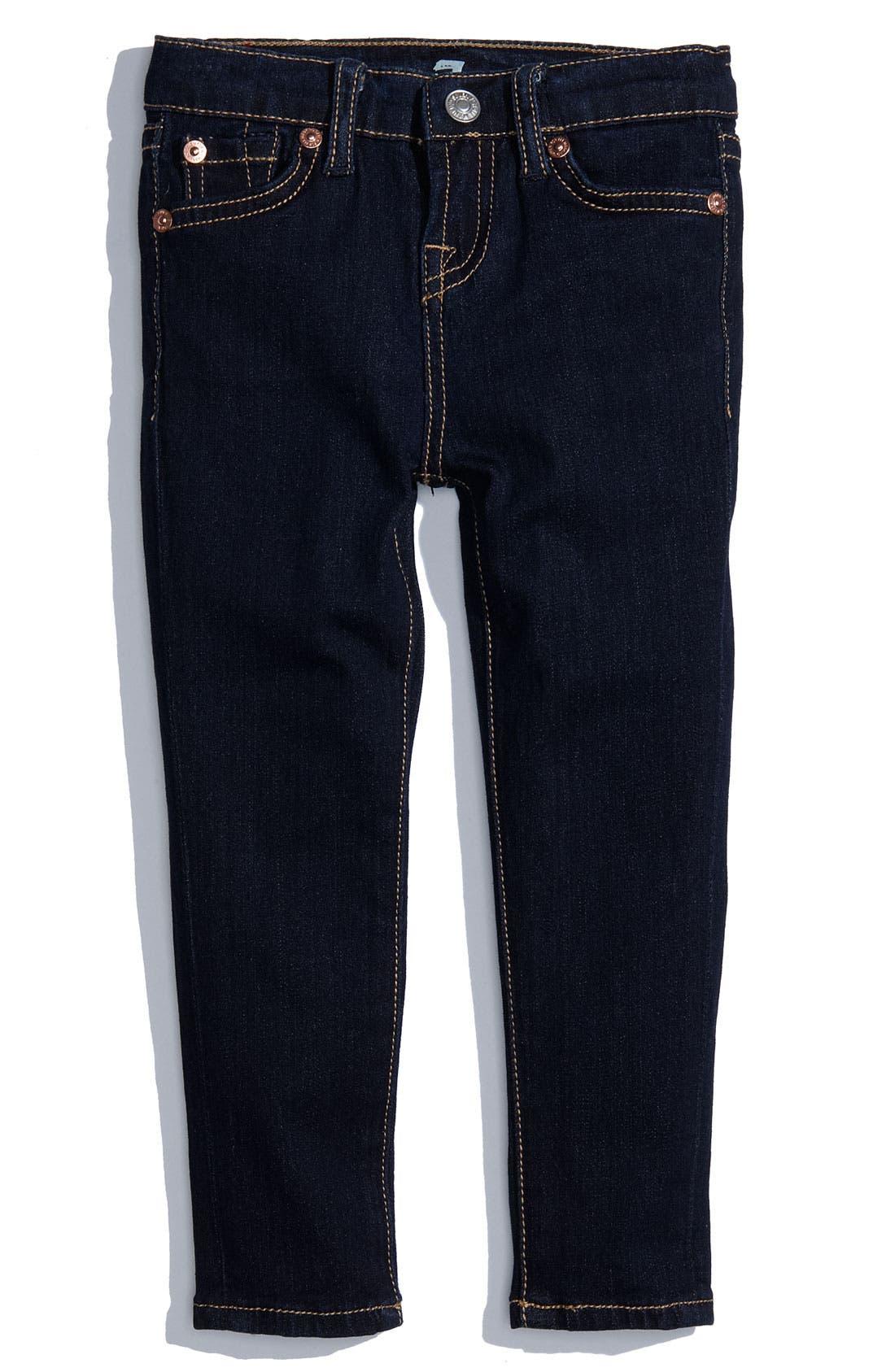 Alternate Image 2  - 7 For All Mankind® Skinny Denim Jeans (Toddler)