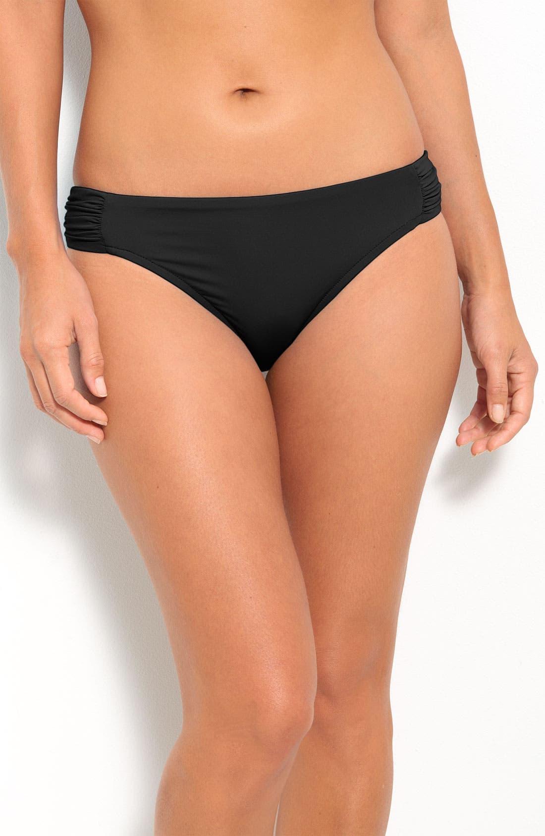 Main Image - Badgley Mischka Shirred Side Bikini Bottoms